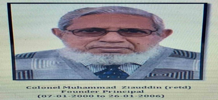 We mourn with the sad demise of our founder Principal