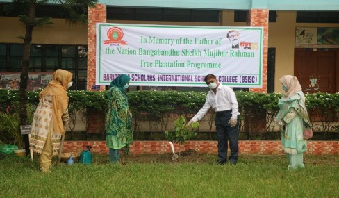 Tree plantation, in memory of father of the nation