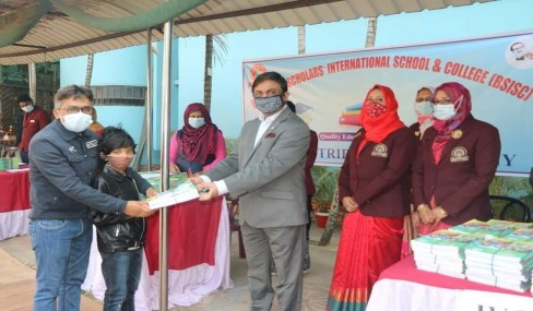 Book Distribution Ceremony at BSISC 1st January 2021.