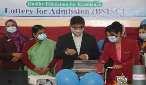 Virtual Lottery session for admission 2021 at BSISC.