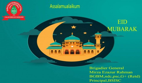 Eid Mubarak from Principal sir.
